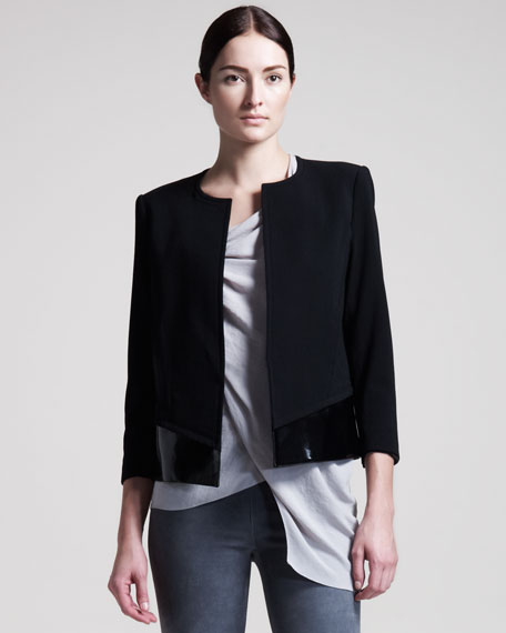 Gloss-Trim Suiting Jacket