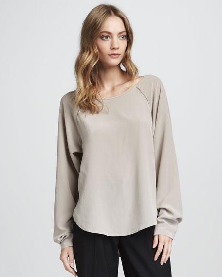 Silk Raglan Top