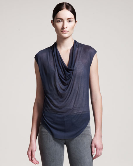 Voltage Drape-Front Top