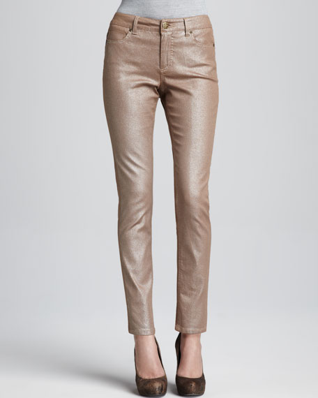 Metallic Abby-Skinny Jeans