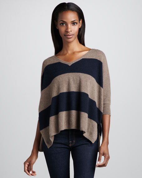 Pow Striped Cashmere Sweater