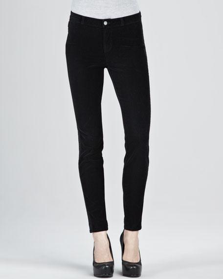 Katharine Black Velvet Tuxedo Pants