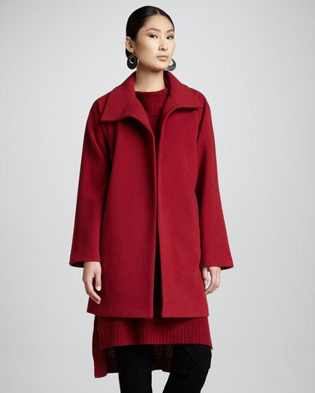 Melton Wool Coat, Women's