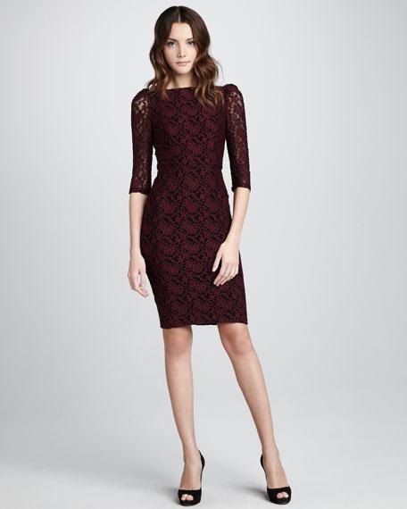 March Cutout-Back Lace Dress