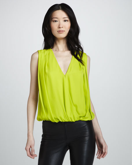 Orla Pleated Silk Top