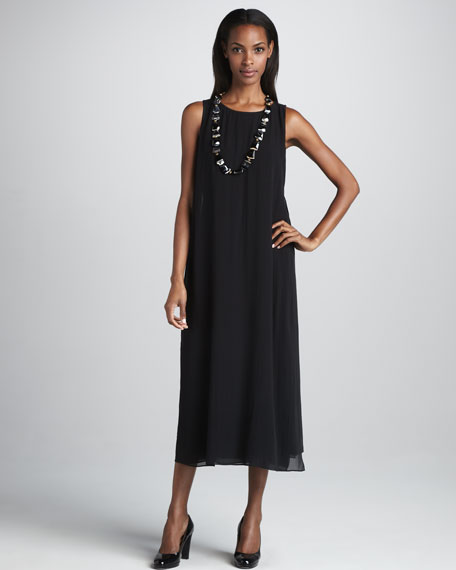 Silk Double-Layer Dress