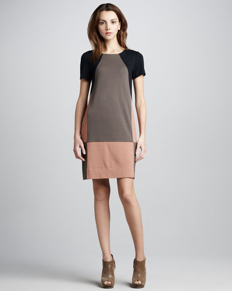 Caroline Colorblock Knit Dress