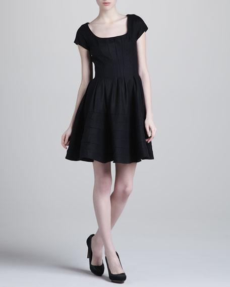 Cap-Sleeve Felt Dress