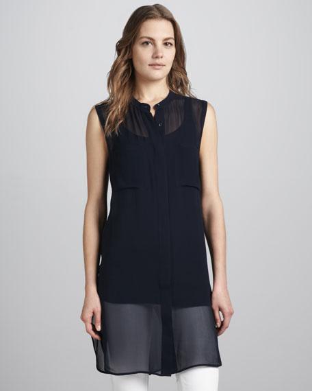 Long Sheer Silk Tunic