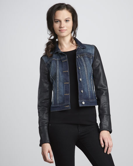 Coated-Sleeve Jacket