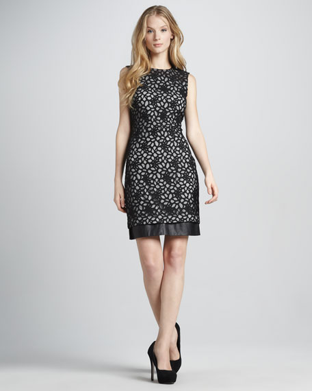 Tilda Shadow-Lace Dress