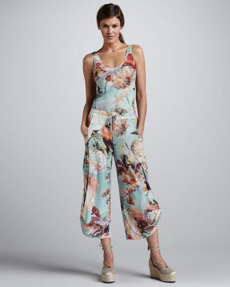 Floral-Print Cargo Pants