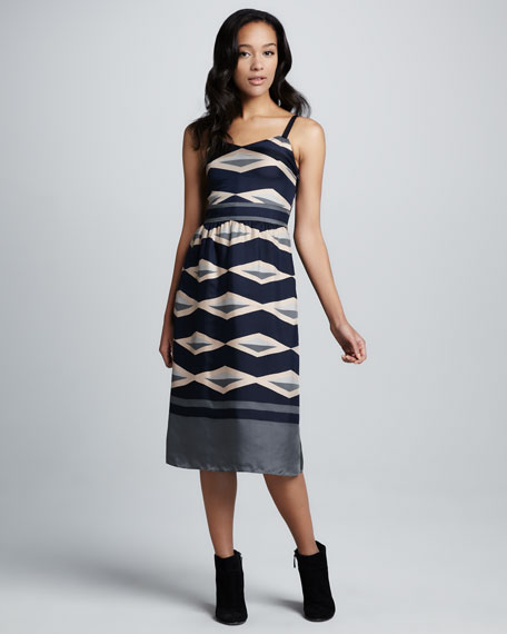 Hayley Striped Satin Dress