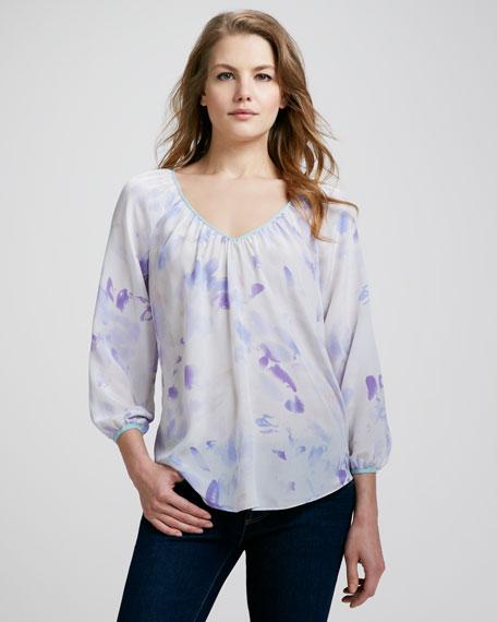 Hawaii Printed Silk Blouse