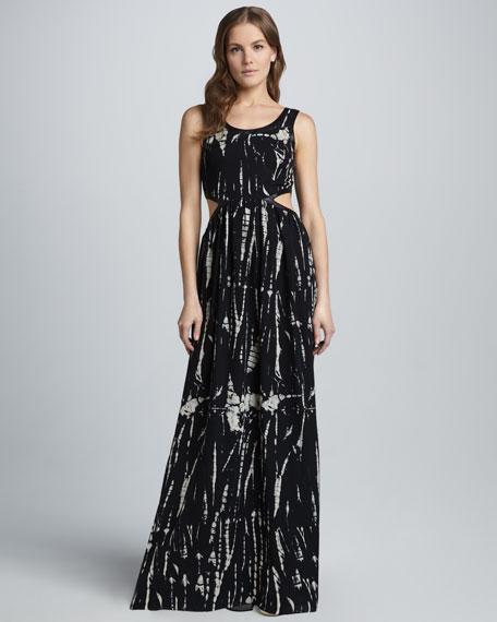 Prism-Print Cutout Dress