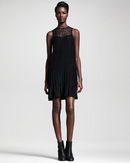 Abigayle Lattice-Neck Dress