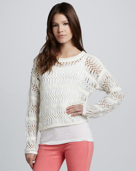 Open Macrame Sweater