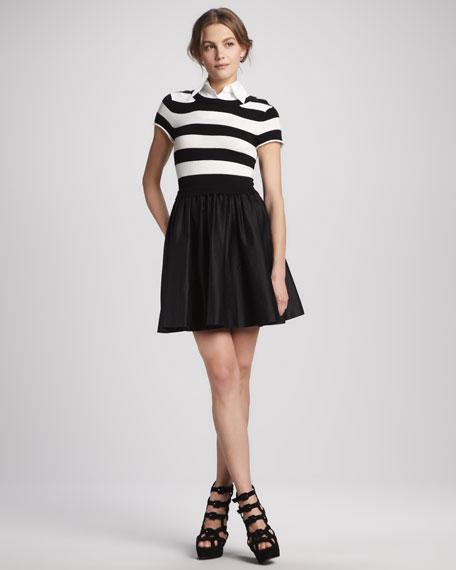 Laurelle Striped Shirtdress
