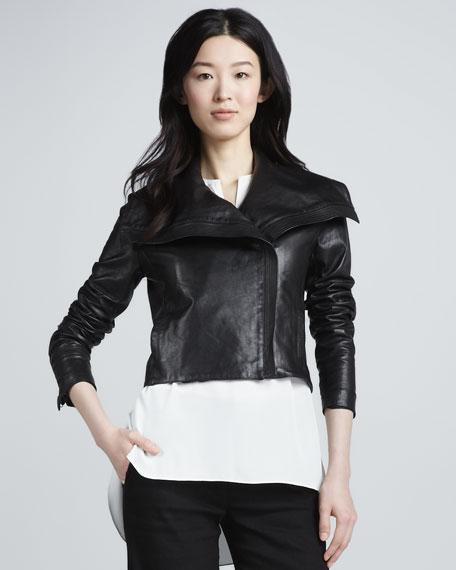 Cropped Asymmetric Jacket
