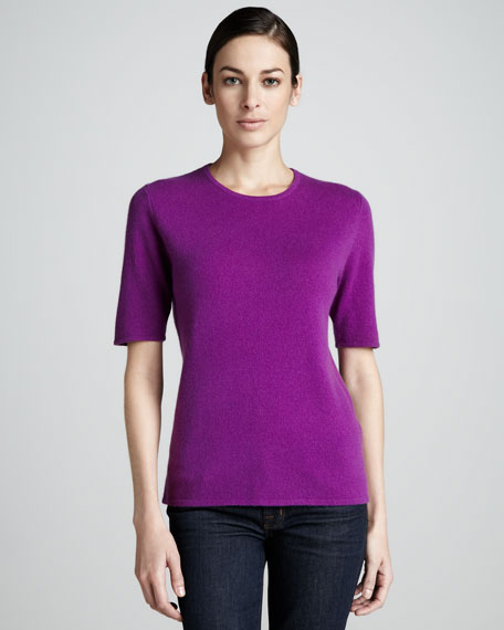Crew-Neck Cashmere Top