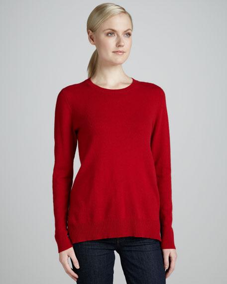 Rib-Hem Cashmere Sweater