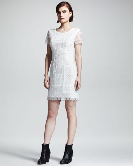 Cherie Check-Texture Dress