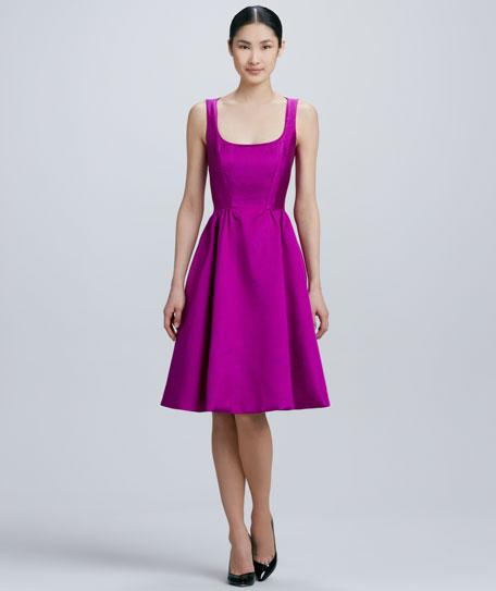 landry sleeveless full-skirt dress