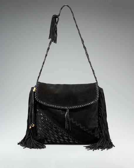 Fringed Flap-Top Hobo