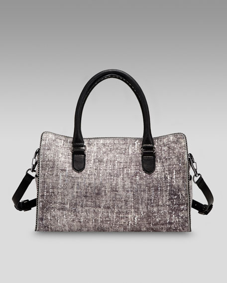 Grace Metallic Denim Leather Day Bag