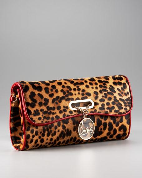 Riviera Leopard-Print Clutch