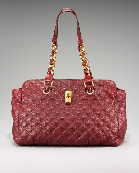 Anabela Quilted Leather Tote