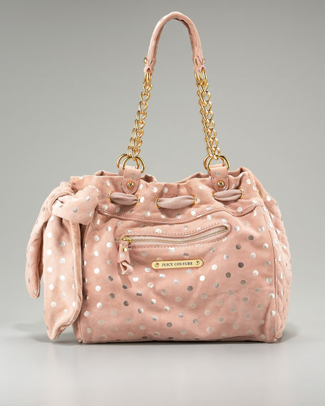 Luxe Polka-Dot Suede Day Dreamer Tote