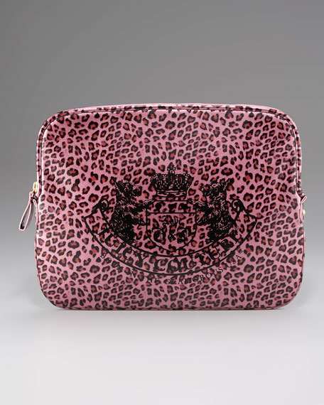 Leopard-Print Laptop Sleeve