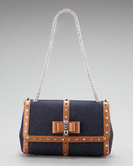 Sweet Charity Denim Shoulder Bag