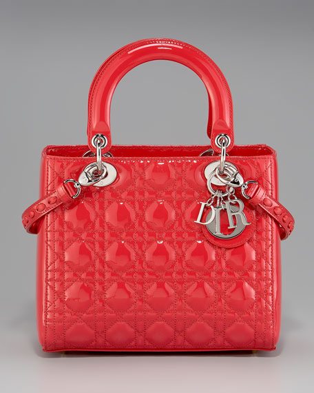 Patent Lady Dior Tote, Medium