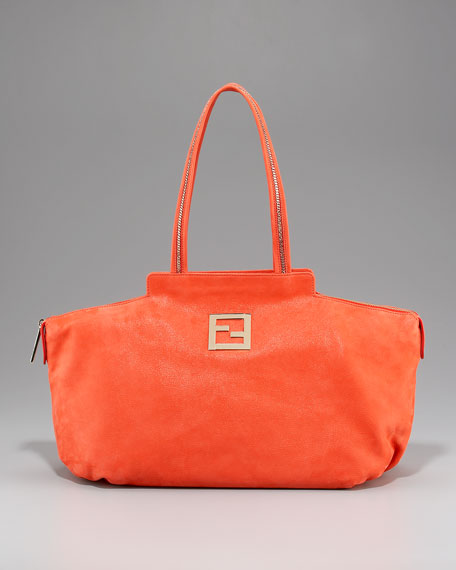 Shimmer Leather Chain Tote