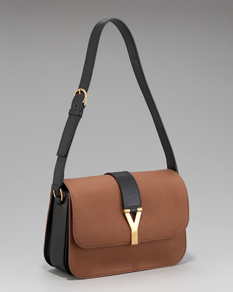 Flap-Top Shoulder Bag, Large
