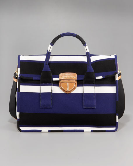prada shopping tessuto saffiano tote bag - Prada Canvas Stripe Tote