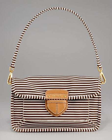 Canvas Stripe Shoulder Bag