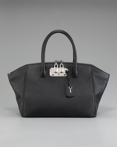 Brera Double-Zip Satchel