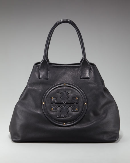 Leather-Logo Summer Tote