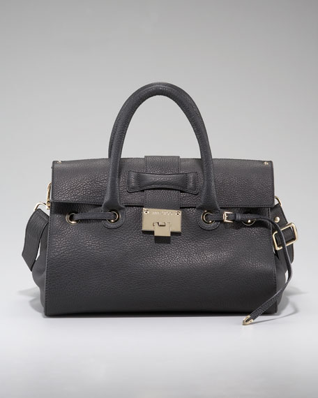 Rosalie Pebble Leather Satchel