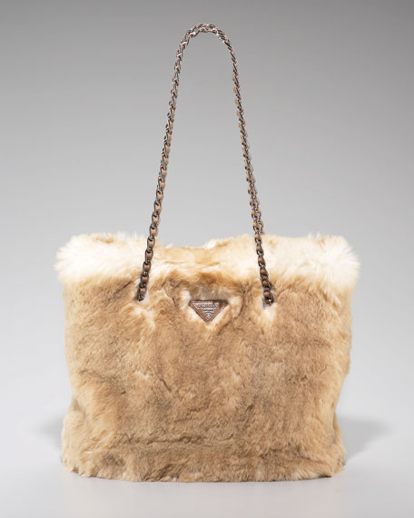 Lapin Faux Fur Zip-Top Tote