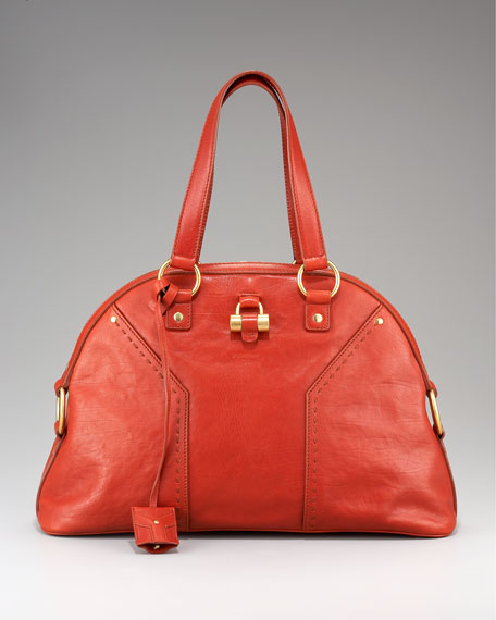 Large Tote, Red Leather