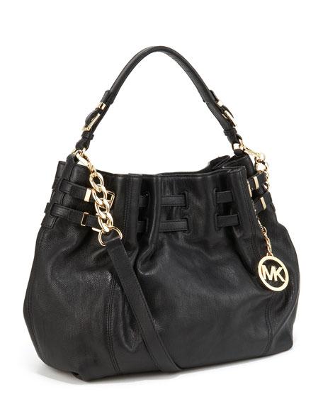 Edie Large Shoulder Bag, Black
