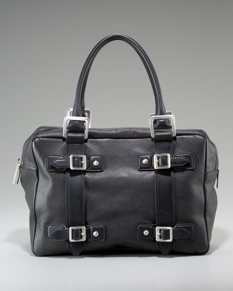 Adelaide Leather Tote, Black