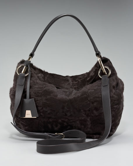 Allegra Fur Crossbody Bag, Medium