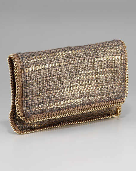 Metallic Boucle Clutch