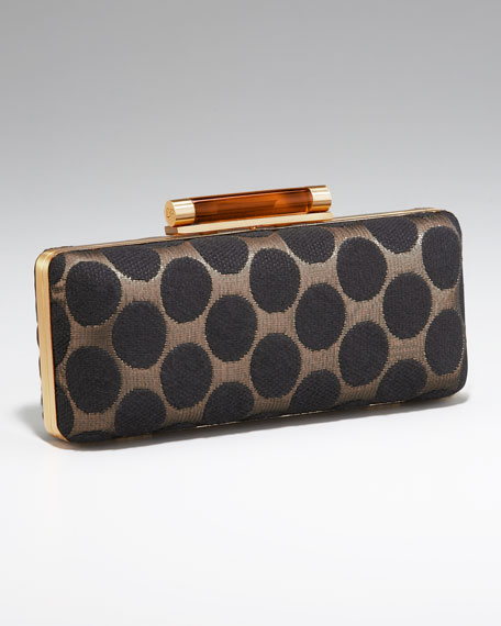 Tonda Polka-Dot Clutch