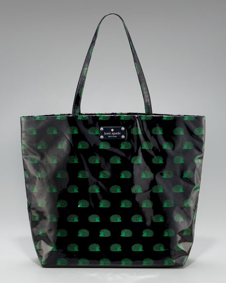 bon hedgehog-print shopper
